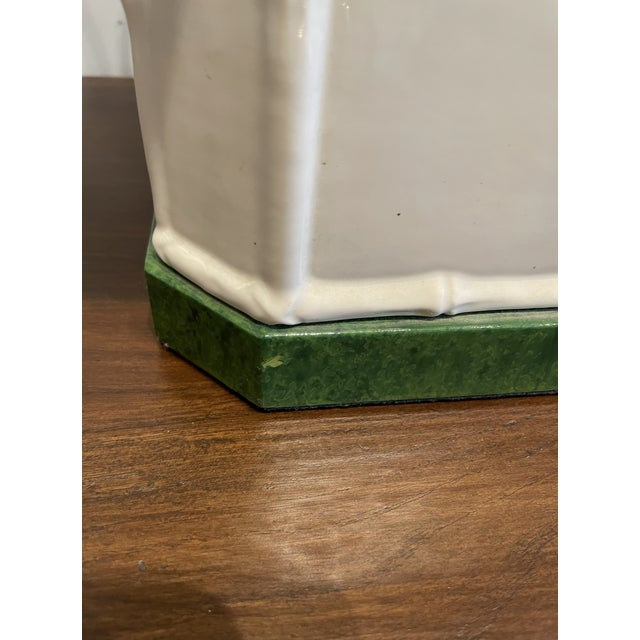 Antique White Chinoiserie Table Lamp For Sale In Los Angeles - Image 6 of 9