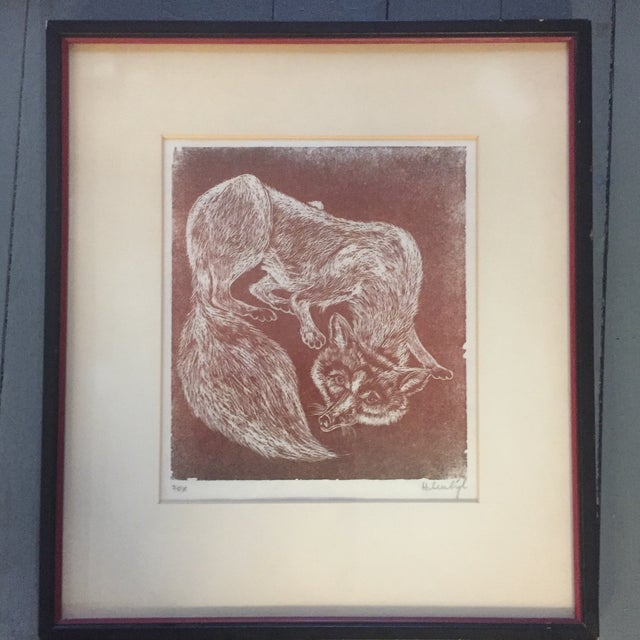 Vintage Original Fox Lithograph For Sale In Philadelphia - Image 6 of 6