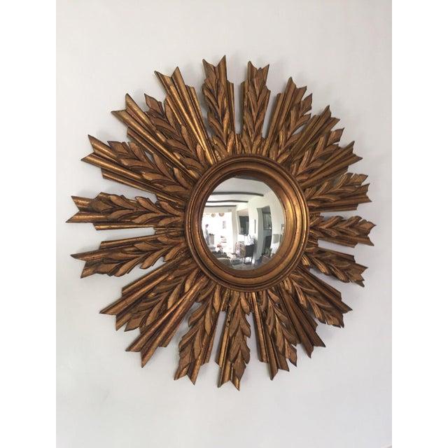 Wooden Sunburst Mirror - Image 6 of 11