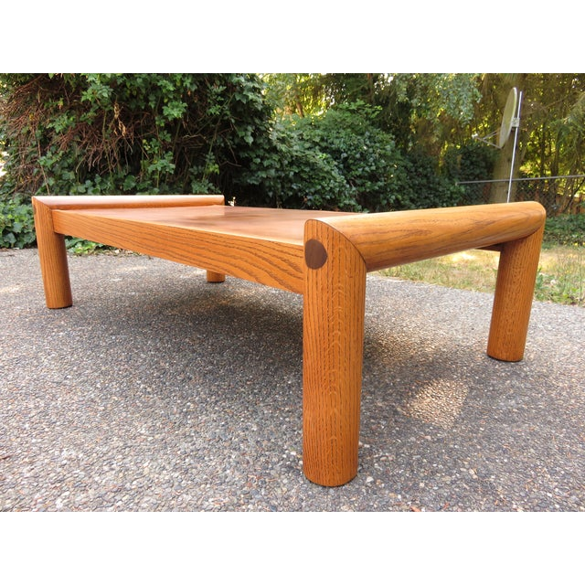 Vintage Modernist Oak & Copper Coffee Table - Image 4 of 6