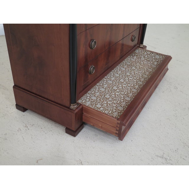 Decorative Crafts Italian Walnut Chest For Sale - Image 9 of 13