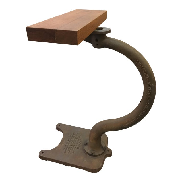 Vintage Industrial Kwikprint Gold Stamping Machine Stand For Sale