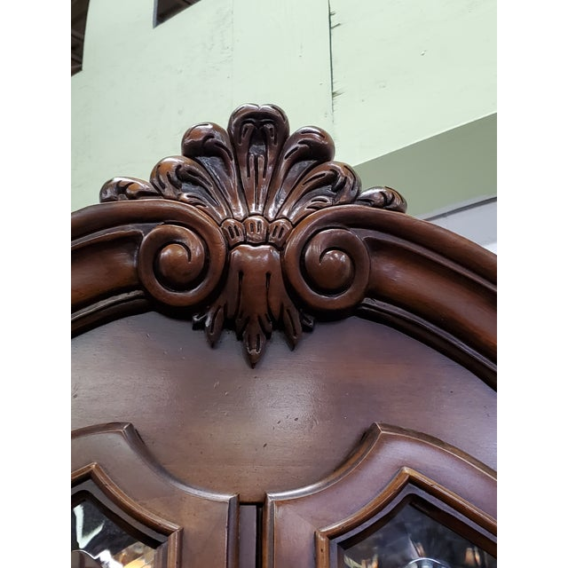 Wood Vintage China Cabinet For Sale - Image 7 of 13