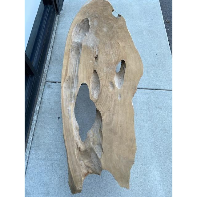 Vintage Live Edge Coffee Table For Sale - Image 4 of 8