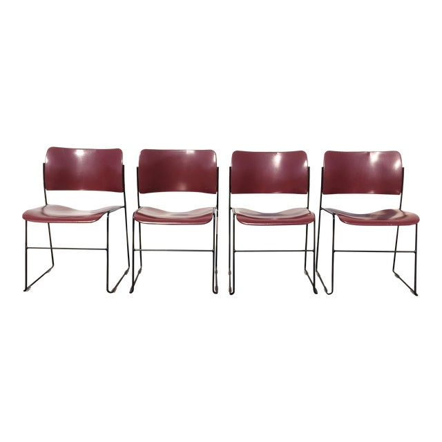 David Rowland for Rowe 40/4 Stackable Chairs- Set of 4 For Sale