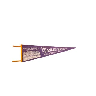 Vintage The Franklin Institute Philadelphia PA Felt Flag Pennant For Sale