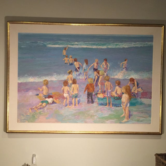 Day at the Beach Painting by Anton Sipos - Image 2 of 4