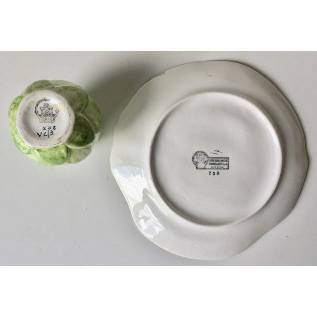 Este Ceramiche-Italian Faience Dish & Cup For Sale - Image 4 of 10