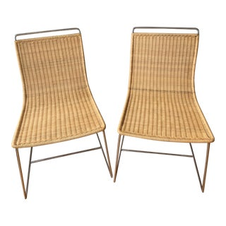 Rattan Dining Chairs - a Pair For Sale