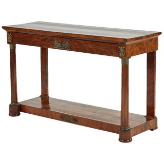 Empire Console in Mahogany For Sale