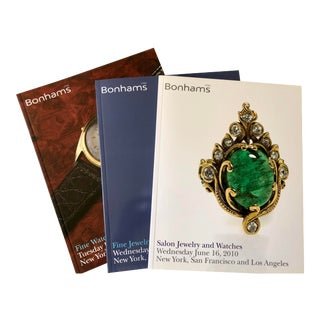 2010 Bonhams Catalogs, Jewelry and Watches - Set of 3 For Sale