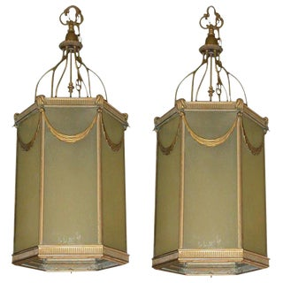 1920s Lanterns - a Pair For Sale