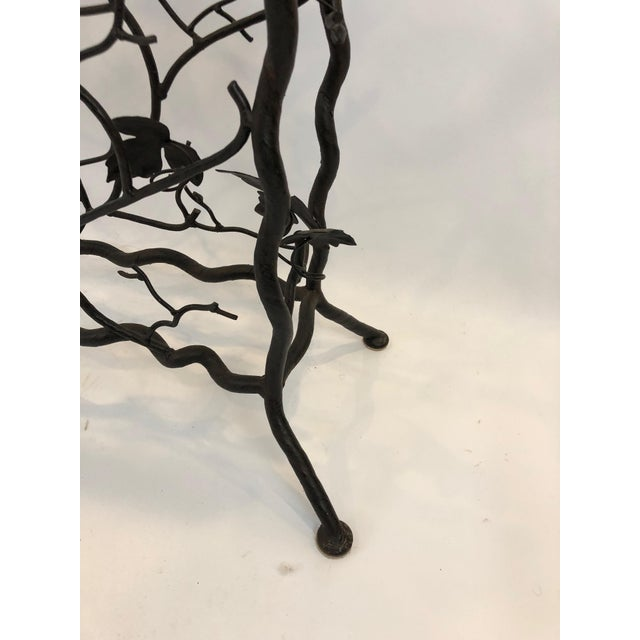 1980s Traditional Hand Forged Iron Console Table and Wine Rack For Sale In Philadelphia - Image 6 of 11