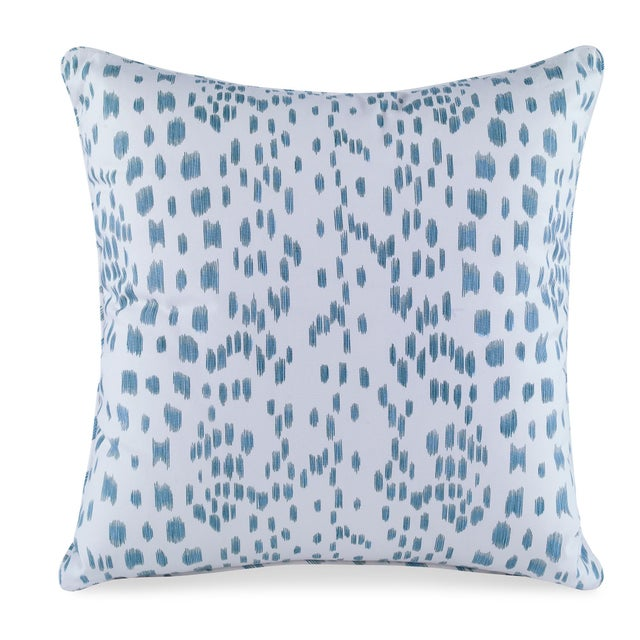 Contemporary Curated Kravet Les Touches Pillow - Aqua For Sale - Image 3 of 3