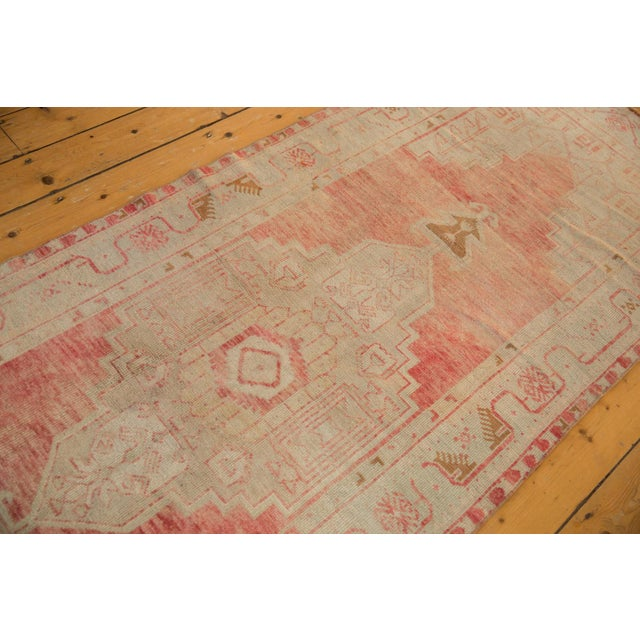"Islamic Vintage Distressed Oushak Rug Runner - 3'5"" X 9'1"" For Sale - Image 3 of 11"