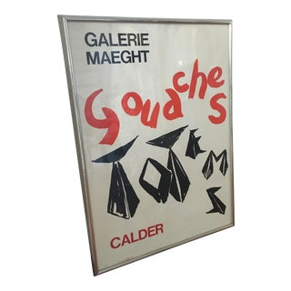 "1960s Vintage Alexander Calder Galerie Maeght ""Gouaches Et Totems, 1966"" Print For Sale"