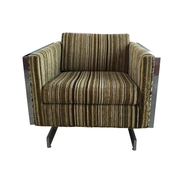 Patrician Furniture Co. Chrome Frame Lounge Chair For Sale