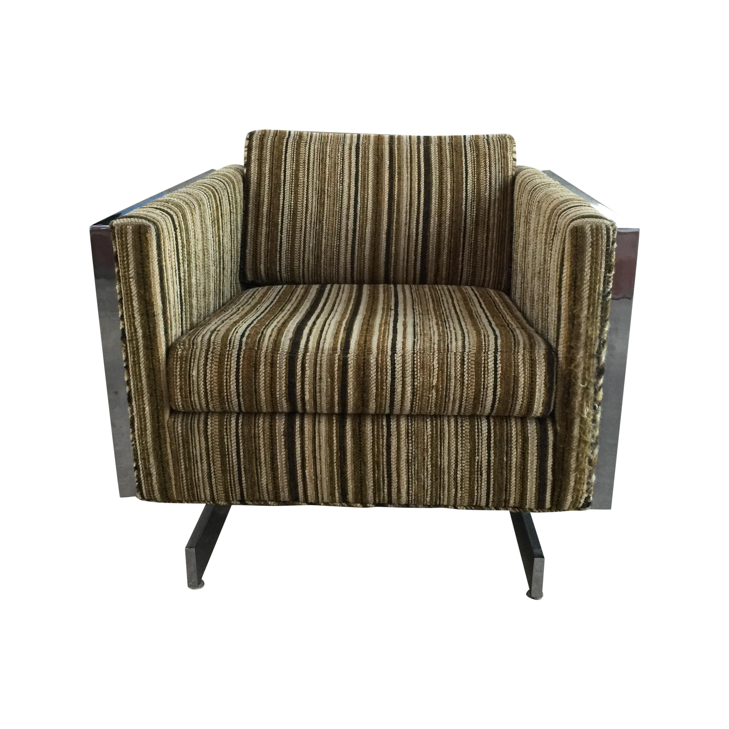 Charmant Patrician Furniture Co. Chrome Frame Lounge Chair For Sale