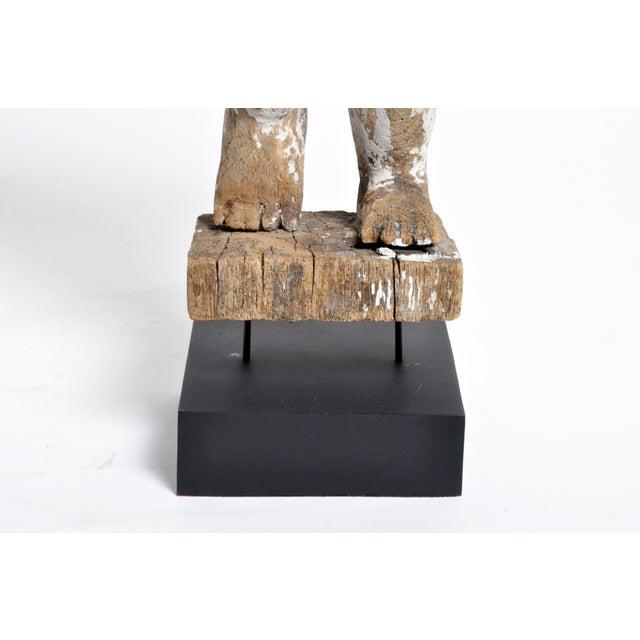 Carved Teak Wood Cupids For Sale - Image 10 of 13