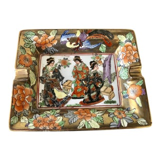Geisha Chinoiserie Ashtray