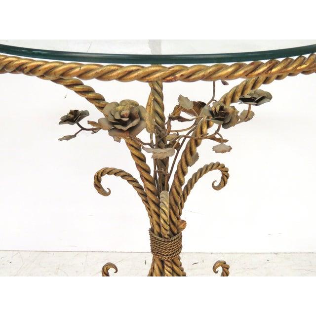 Italian Gilt Iron Rope & Tassel Center Table - Image 2 of 5
