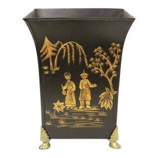 Hand-Painted Tole Urn Planter