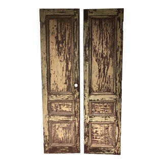 Rustic Mahogany Doors From La Casa Zaldivar, Pacheco in El Salvador - a Pair For Sale