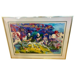 LeRoy Neiman Signed & Numbered Large Serigraph Limited Edition Gridiron Football For Sale