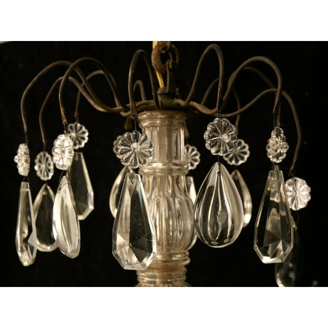 Early 20th Century Vintage French Crystal 8 Light Chandelier For Sale - Image 5 of 10