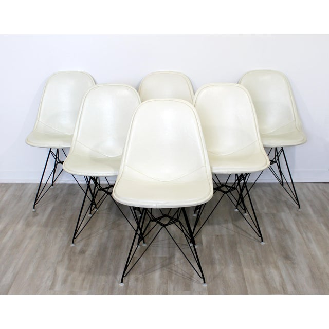 """For your consideration is a spectacular set of six DKR side chairs, with """"Eiffel Tower"""" bases, by Charles Eames for Herman..."""
