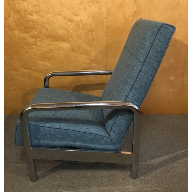 Mid-Century Modern Milo Baughman for Thayer Coggin Chrome Reclining Lounge Chair For Sale - Image 3 of 8