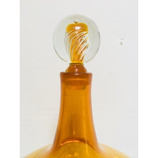 Blenko Joel Myers Honey Decanter featuring Swirl Air Twist Stopper Preview