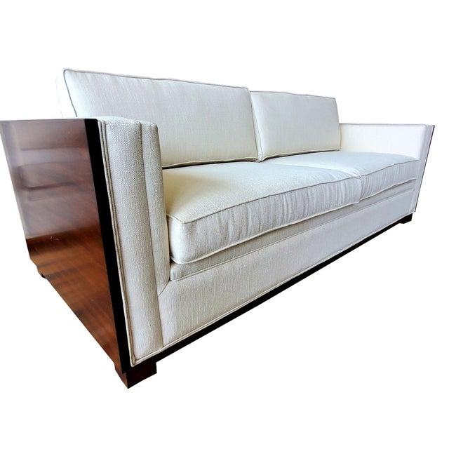 Thomasville Furniture Ernest Hemingway Moncado Mahogany Art Deco Sofa For Sale - Image 10 of 10
