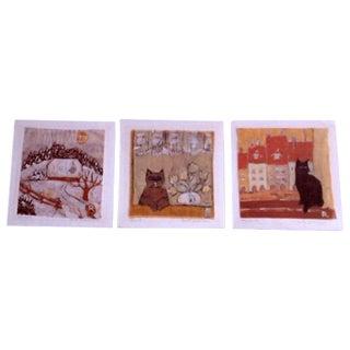 Original Batiks from Wengen Switzerland - Set of 3 For Sale