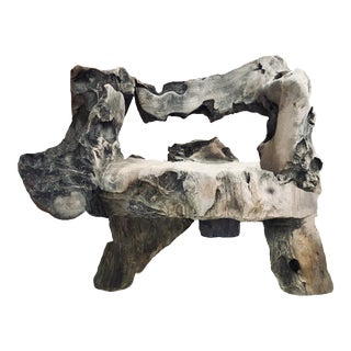20th Century Organic Modern Teak Root Bench For Sale