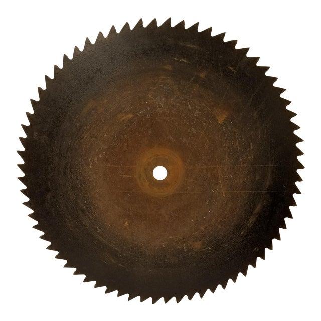 Antique Handhewn Iron Circular Saw Blade - Image 1 of 4