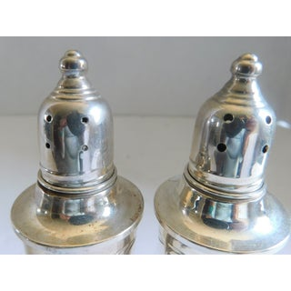 Mid Century Molte Sterling Etched Weighted Salt & Pepper Shakers Preview