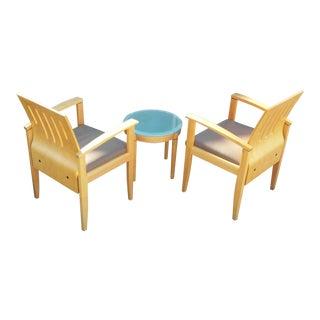 Gunlocke Chair Pair and Table