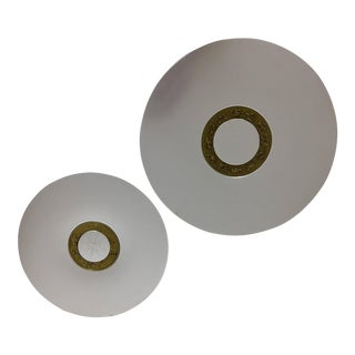 Astrological Aluminum Circular Trays - A Pair For Sale