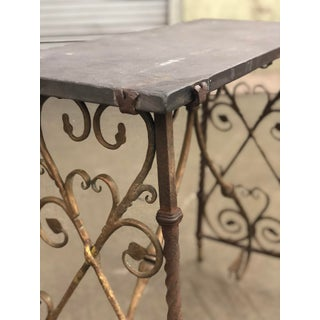 Antique Gothic Iron Console With Slate Top Preview