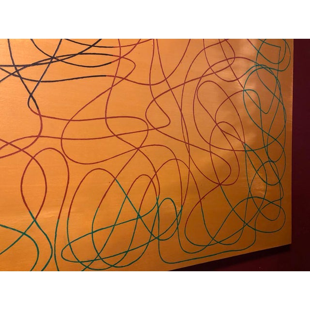 """2010s Acrylic Painting by Artist Troy Smith - 60"""" X 84"""" Contemporary Art - Abstraction For Sale - Image 5 of 13"""