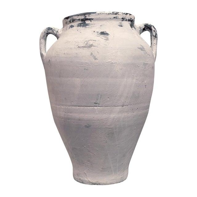 Antique Whitewashed Terracotta Handled Olive Jar For Sale - Image 11 of 11