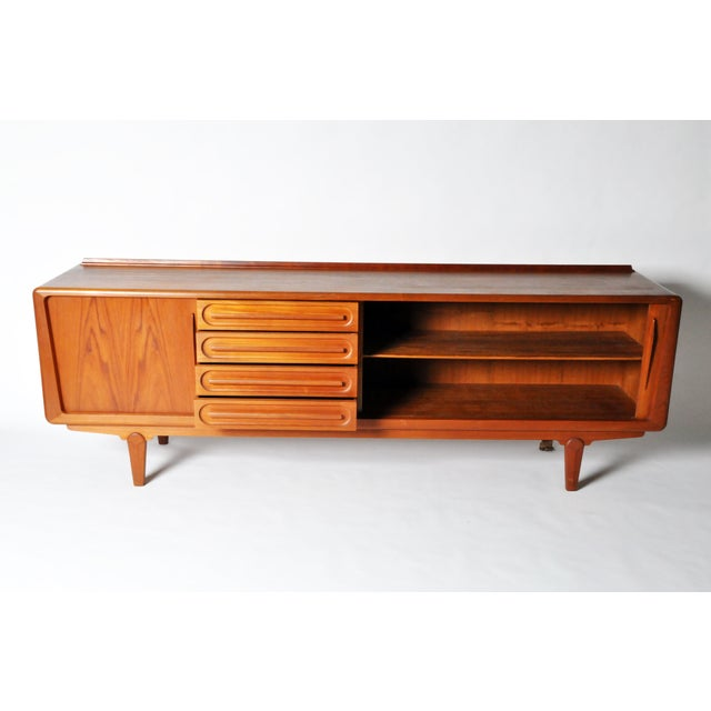 Console with Four Drawers Attributed to Vamo Sonderborg For Sale - Image 4 of 12
