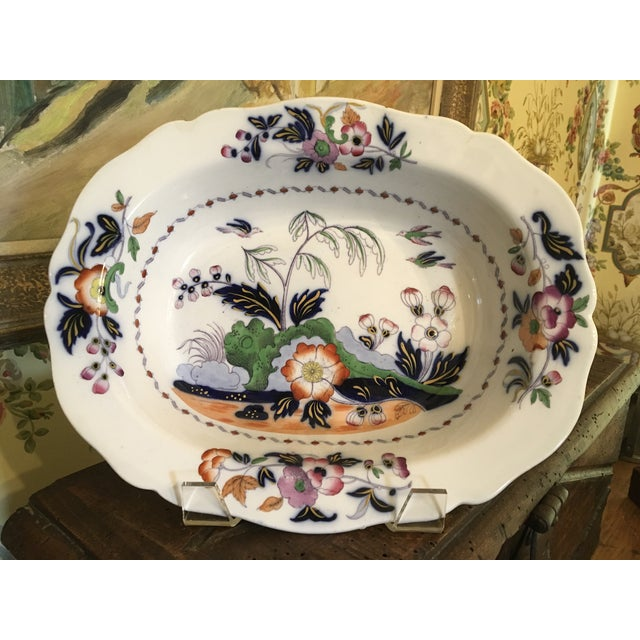 1820s Antique English Masons Ironstone Deep Serving Bowl For Sale - Image 11 of 12