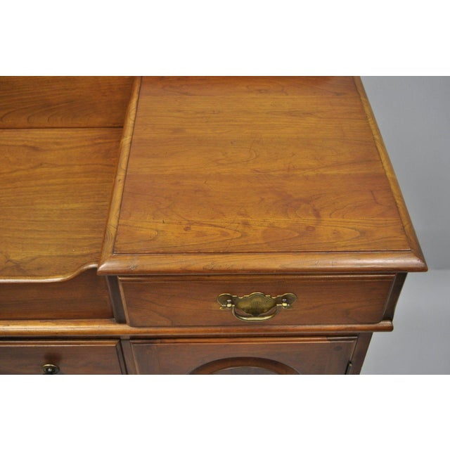 British Colonial Pennsylvania House Solid Cherry Wood Colonial Drysink Dry Sink Cabinet Server For Sale - Image 3 of 12