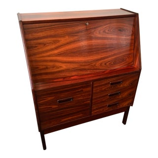 Mid-Century Modern Rosewood Secretary by Dyrlund For Sale