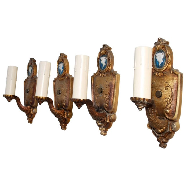 Art Deco 1920s Sconces - Set of 4 For Sale - Image 3 of 3