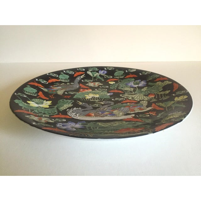 Vintage Asian Swan Platter - Image 7 of 8
