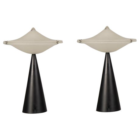 Superb Vintage Italian Tre Ci/Luce Alien Lamps, designer Cesaro L ...