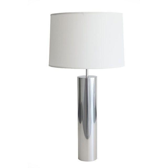 Nessen Steel Cylinder Table Lamp For Sale